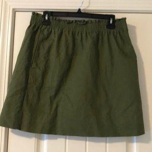 Olive j crew side walk skirt